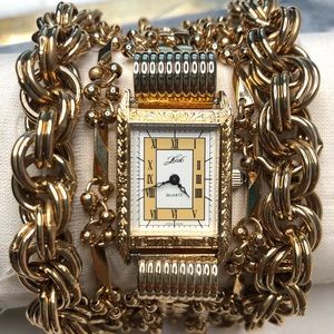 Vintage Kirks Folly Multi Chain Bracelet Watch